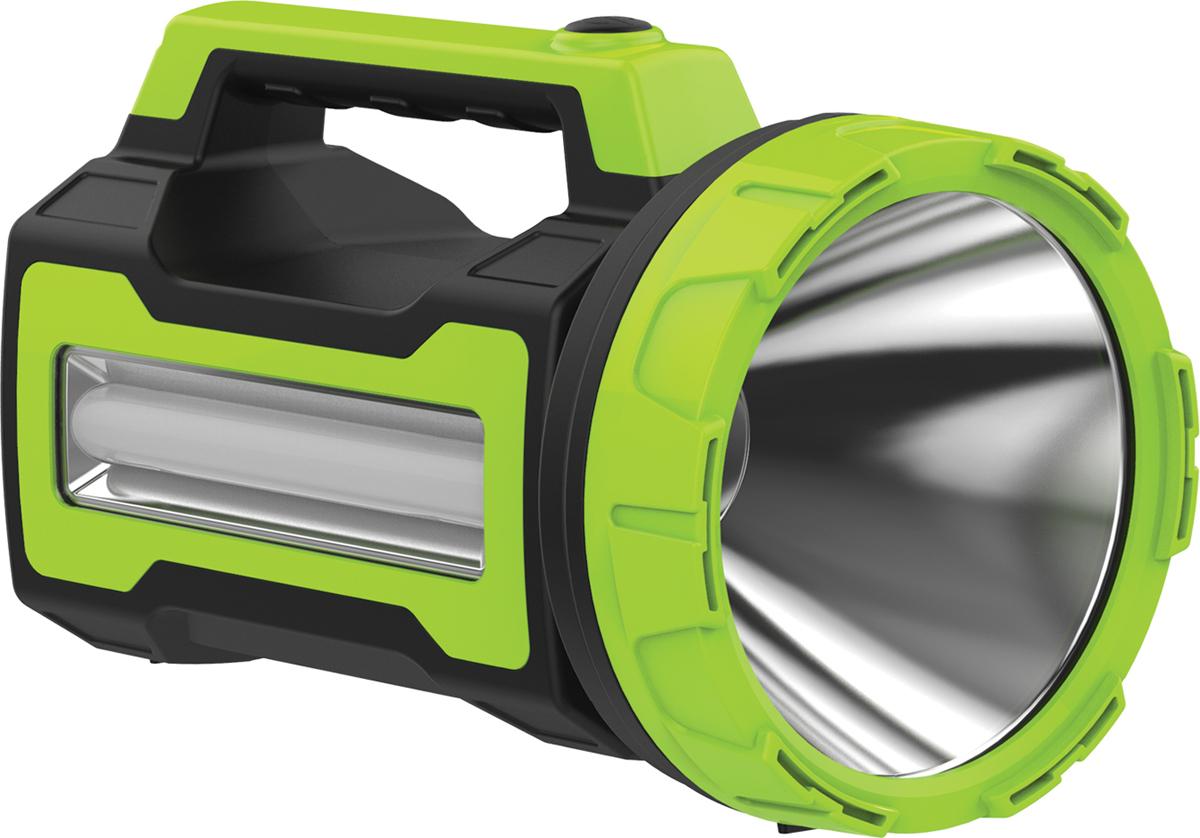 Фонарь ручной Космос KOSAccu9110WUSB, аккумуляторный, цвет: черный, зеленый