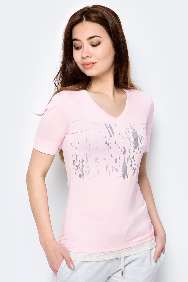 Футболка женская Luhta, цвет: светло-розовый. 939338421LV_602. Размер XL (50) футболка luhta luhta lu692ewauhs6