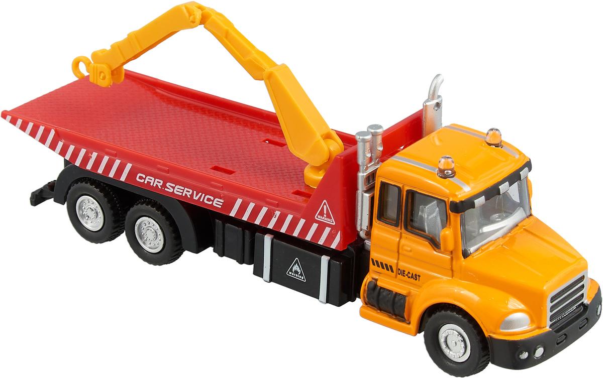Autotime Машинка Tow Truck Эвакуатор цвет желтый красный машина autotime imperial truck series 65137