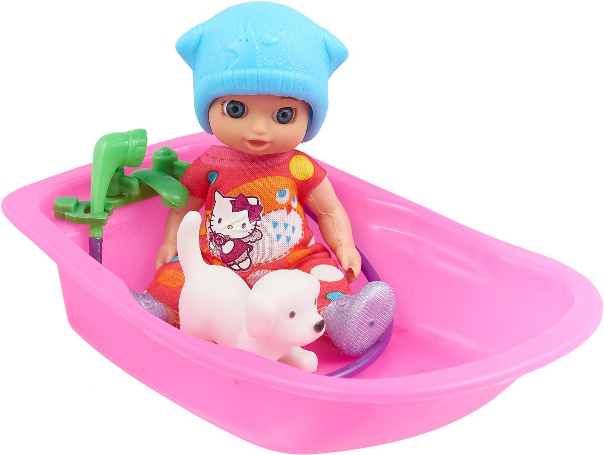 Карапуз Кукла Hello Kitty с ванночкой и аксессуарами карапуз кукла рапунцель со светящимся амулетом 37 см со звуком принцессы дисней карапуз