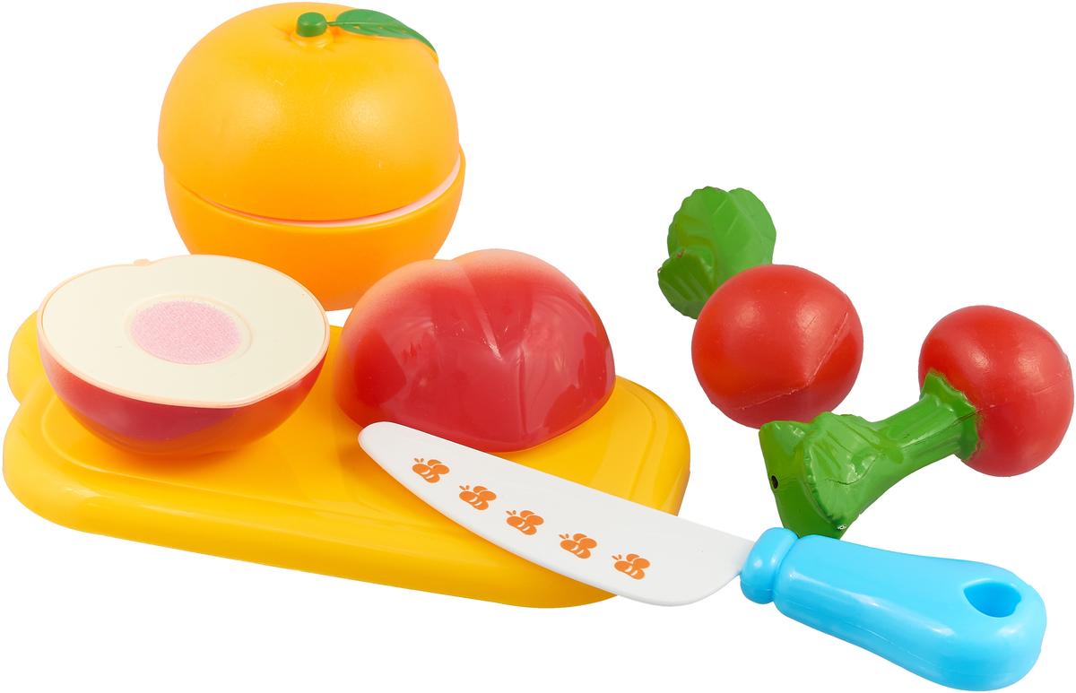 цены Bampi Сюжетно-ролевая игрушка Набор продуктов на липучке Овощи и фрукты