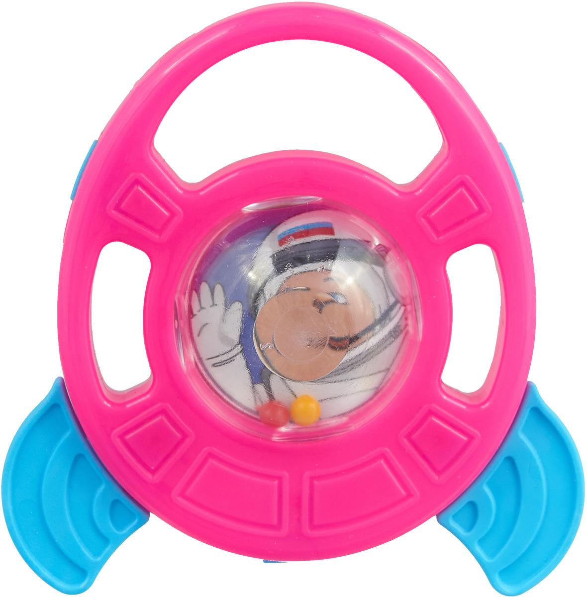 Пластмастер Погремушка-грызунок Ракета цвет розовый