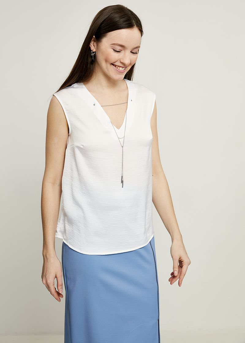 Блузка женская Zarina, цвет: белый. 8224072302001. Размер 50 блузка женская zarina цвет белый 8224086316001 размер 42