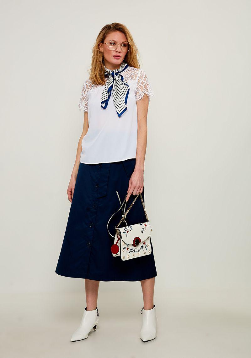 Блузка женская Zarina, цвет: белый. 8224073303001. Размер 46