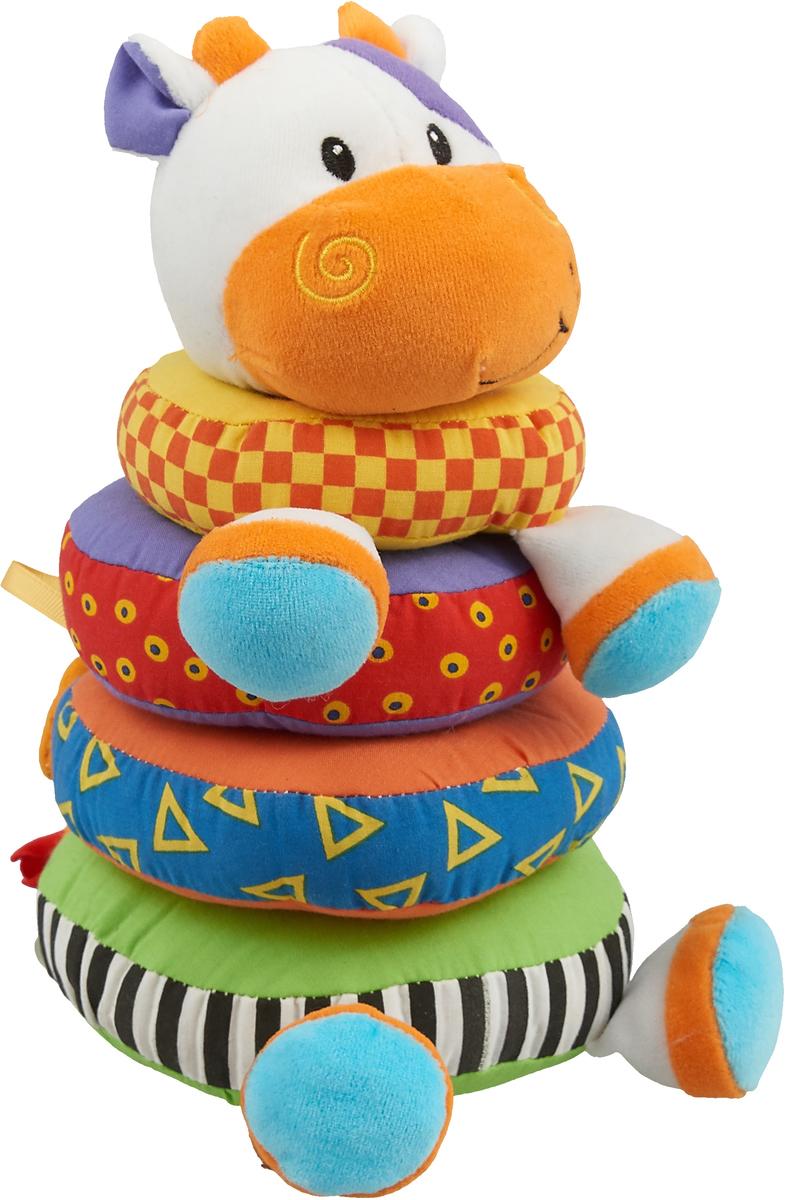 S+S Toys Развивающая игрушка Пирамидка-погремушка Коровка ролевые игры s s toys игрушка волшебная палочка