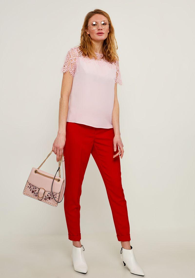 Блузка женская Zarina, цвет: светло-розовый. 8224073303097. Размер 52 блузка quelle zarina 1017146