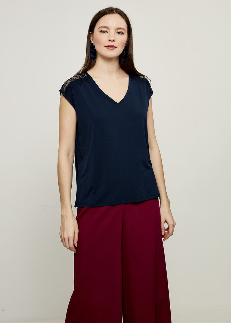 Блузка женская Zarina, цвет: синий. 8224502402048. Размер XL (50) блузка женская zarina цвет розовый 8224507407094 размер xl 50