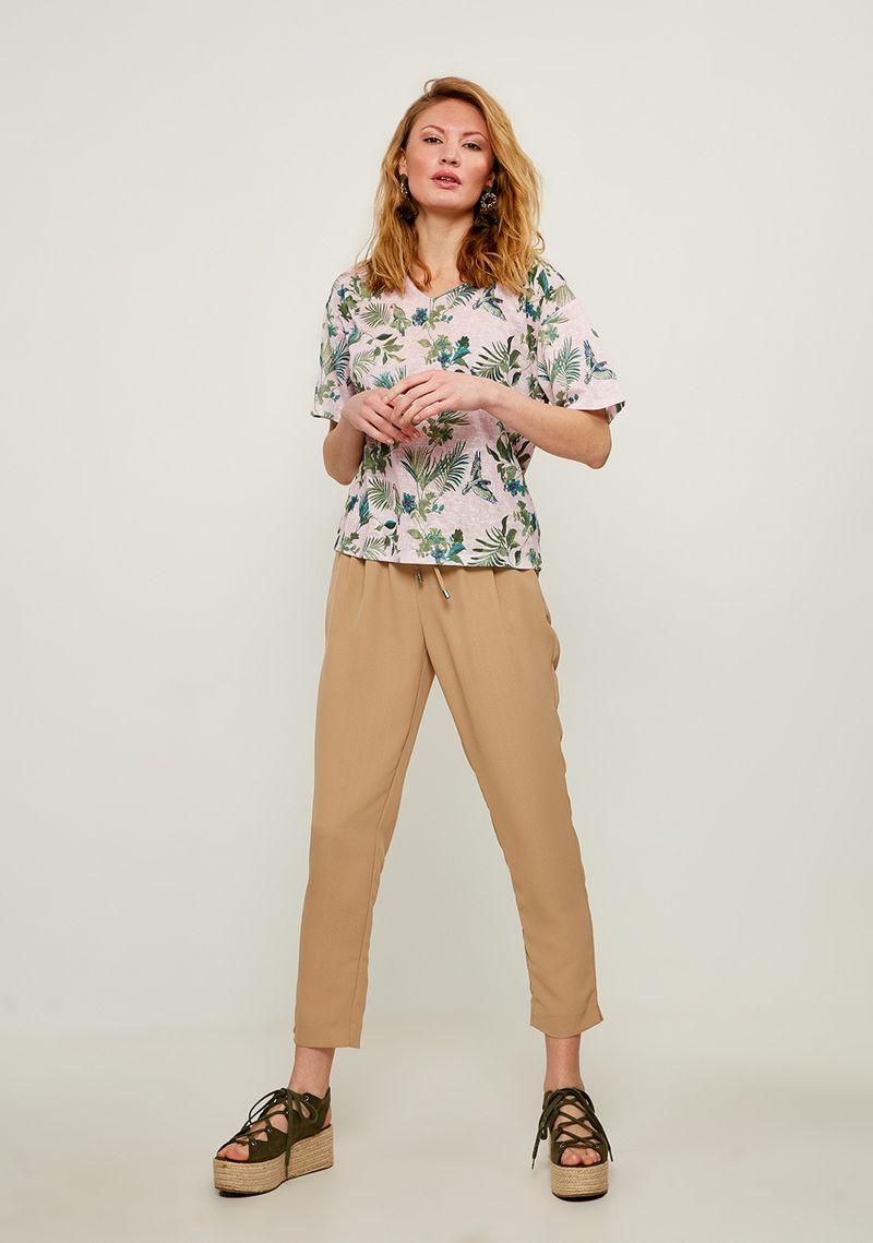 Брюки женские Zarina, цвет: бежевый. 8224201700066. Размер 48 брюки женские