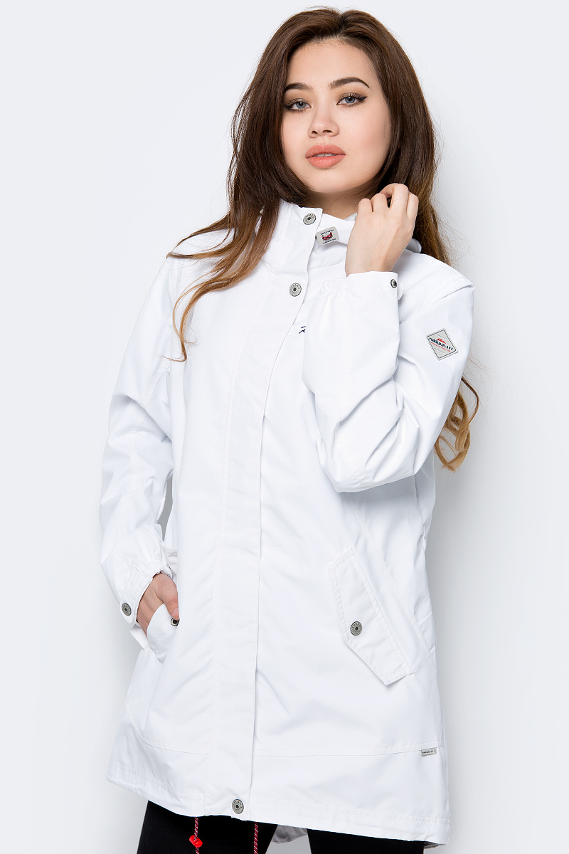 Плащ женский Rukka, цвет: белый. 979321286RVD1_980. Размер 42 (50) женский плащ с капюшоном