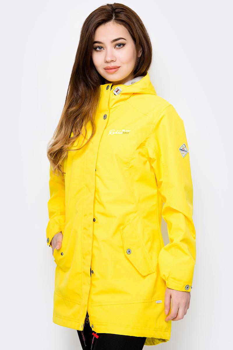 Плащ женский Rukka, цвет: желтый. 979321286RVD1_418. Размер 42 (50) женский плащ с капюшоном