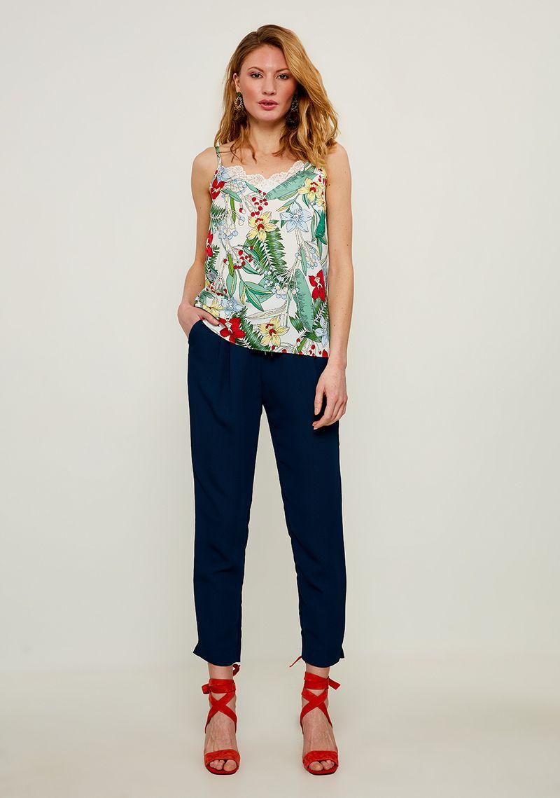 Брюки женские Zarina, цвет: синий. 8224201700040. Размер 44 джинсы женские zarina цвет синий 8224437737103 размер 42