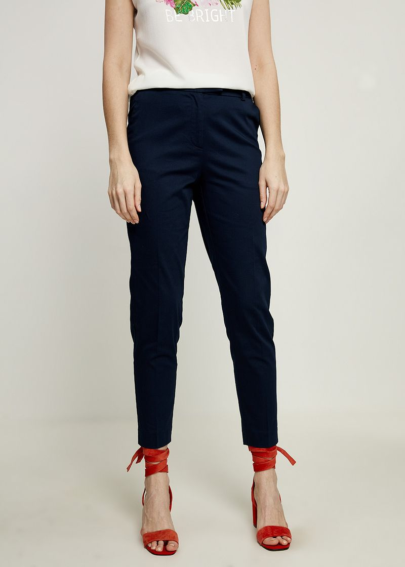 Брюки женские Zarina, цвет: темно-синий. 8224215707047. Размер 46 брюки zarina zarina za004ewxrm01