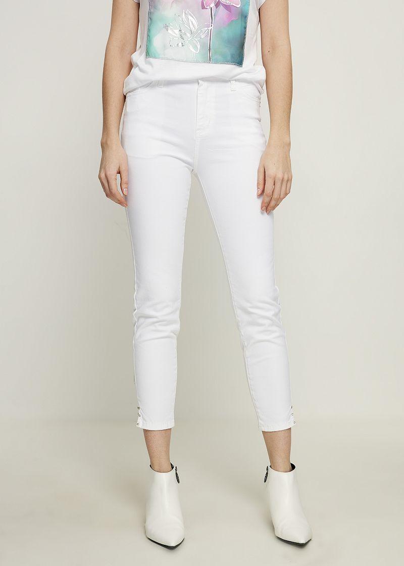 Джинсы женские Zarina, цвет: белый. 8224440740001. Размер 44 джинсы женские zarina цвет синий 8224437737103 размер 42
