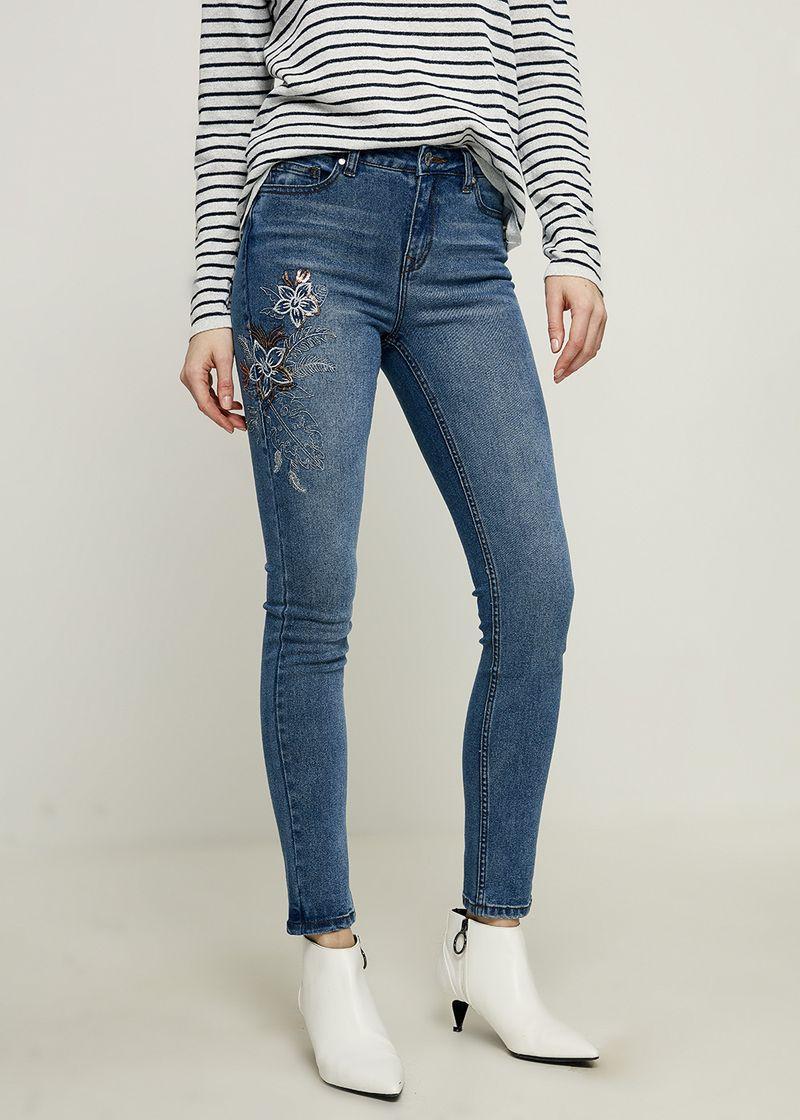 Джинсы женские Zarina, цвет: голубой. 8224442742102. Размер 42 джинсы женские zarina цвет темно синий 8224440740104 размер 52