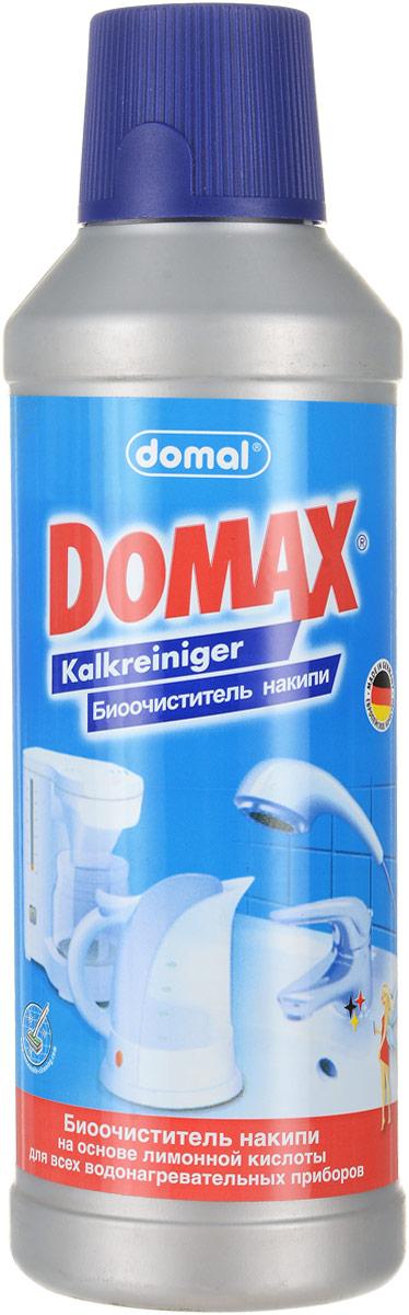 Биоочиститель накипи Domax для всех водонагревательных приборов, 500 мл158061Специально разработанная формула на основе безвредных для человека биологических веществ. Эффективно удаляет накипь в чайниках, кофеварках, посуде, стиральных машинах, а также трудноудаляемые известковые отложения с твердых поверхностей в ванной и на кухне. Не имеет запаха. Регулярное использование Domax улучшит работу и продлит срок службы ваших водонагревательных приборов. Способ применения: Чайники и водонагревательные приборы: налить 1л воды в чайник (резервуар). В зависимости от загрязнения добавить 150-200 мл средства. Нагреть раствор до 50°С и оставить действовать на 30 мин. Затем вылить раствор, тщательно прополоскать и прокипятить емкость.Кофеварки: налить 200 мл воды в резервуар для воды кофеварки и затем 50 мл средства. Включить кофеварку и прогнать около 100 мл раствора. Выключить кофеварку и дать остаткам раствора подействовать около 15 мин. Затем пропустить остатки раствора и дважды прогнать чистой водой. Стиральные машины: в стиральную машину без моющих средств и белья залить 500 мл средства и запустить короткую программу при температуре 60°С.Поверхности арматуры и сантехники: неразбавленное средство налить или нанести влажной тряпкой на очищаемую поверхность. Затем потереть и смыть водой. Для достижения наибольшего блеска протрите поверхность сухой тряпкой после того, как она высохнет. Не применять на чувствительных к кислотам поверхностях: эмали, серебре, мраморе, анодированном алюминии. При использовании в водонагревательных приборах сверьтесь с рекомендациями производителя. Перед применением на твердых поверхностях в ванной или на кухне проверьте средство на незаметном месте. Не применять вместе с хлорсодержащими очистителями.Экологически чистый продукт. Состав (согласно рекомендации ЕС): лимонная кислота, вспомогательные вещества. Уважаемые клиенты! Обращаем ваше внимание на возможные изменения в дизайне упаковки. Качественные характеристики товара остаются неизменными. 