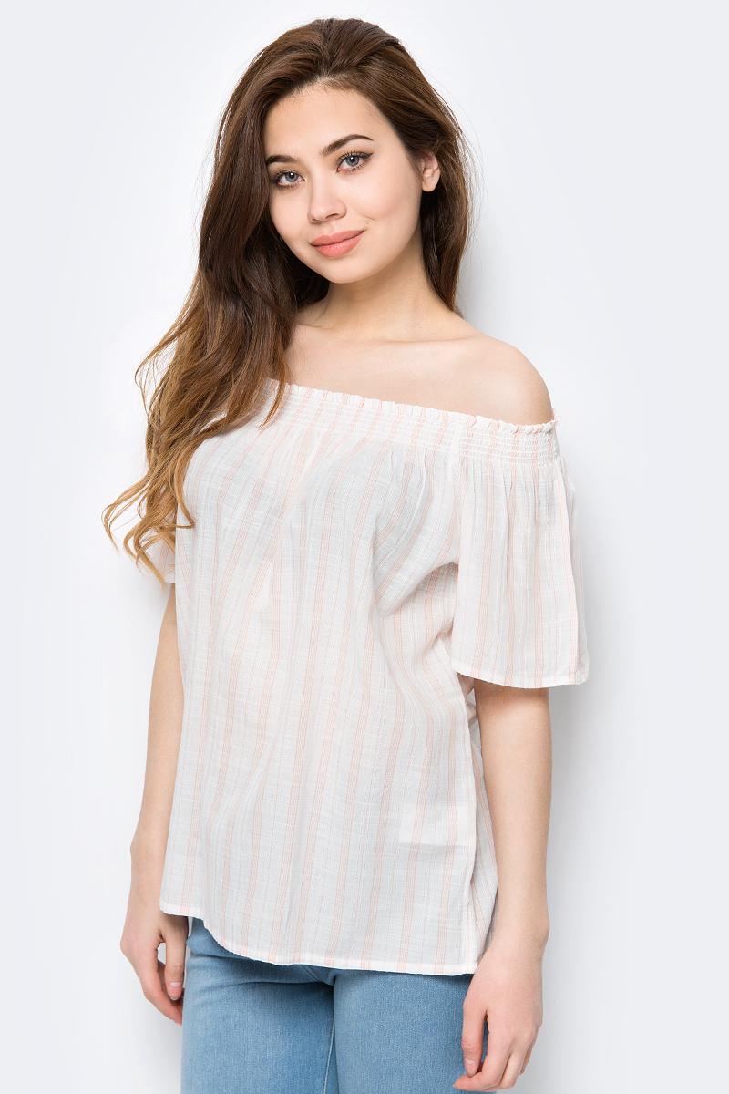 Купить Блузка женская United Colors of Benetton, цвет: белый, розовый. 5YR65Q905_904. Размер M (44/46)