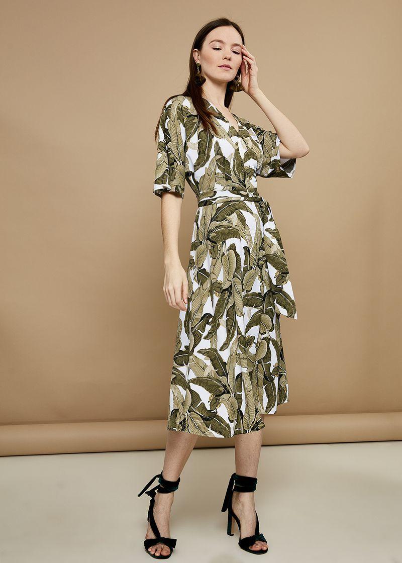 Платье Zarina, цвет: зеленый. 8224001501012. Размер 48