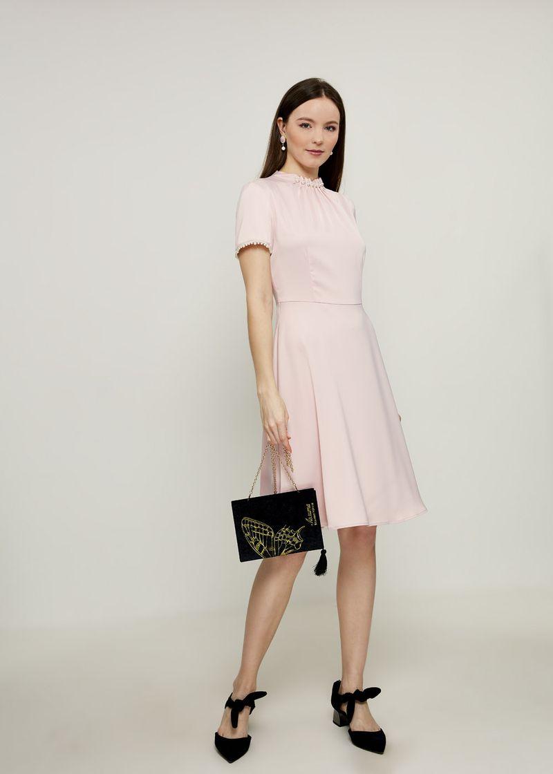 Платье Zarina, цвет: розовый. 8224035535090. Размер 50 платье zarina цвет синий 8123002502056 размер 50
