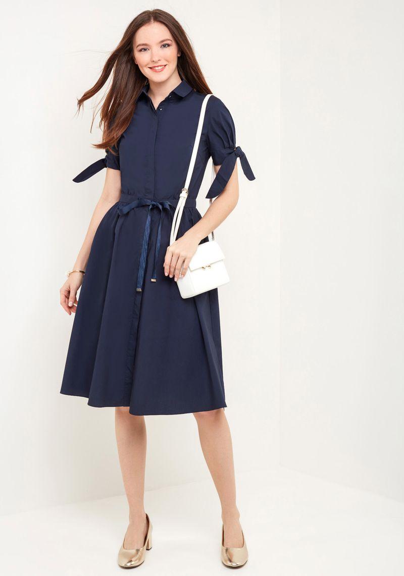 Платье Zarina, цвет: синий. 8225018518040. Размер 46 брюки zarina zarina za004ewxrm01