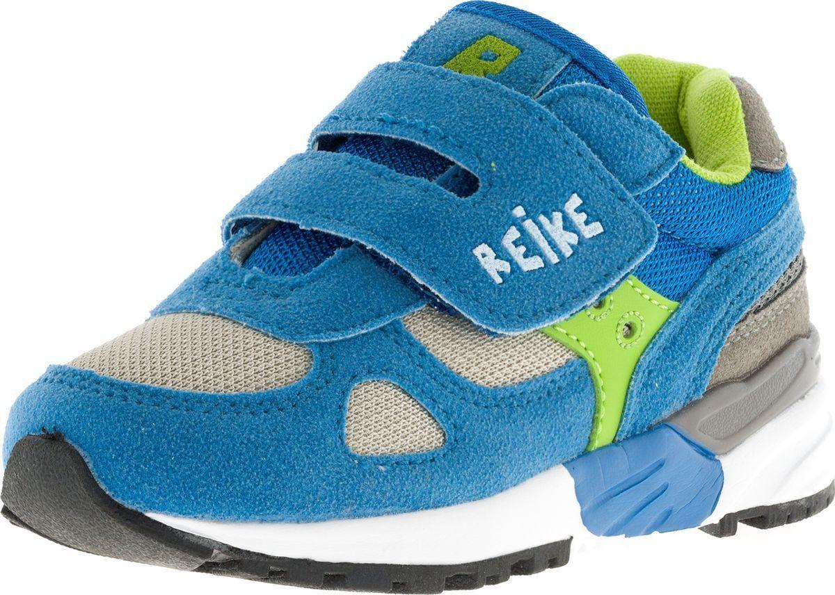 Кроссовки для мальчика Reike, цвет: синий. RST18-030. Размер 23RST18-030 bs blueСтильные кроссовки S.Oliver придутся по душе вашему ребенку. Кроссовки, выполненные из искусственной замши и текстиля, оформлены прострочкой и на ремешке тиснением в виде логотипа бренда. Ремешок с липучкой надежно фиксирует обувь на ноге. Подкладка и стелька из мягкого текстиля комфортны при ходьбе. Рифление на подошве обеспечивает идеальное сцепление с любыми поверхностями. Эффектные кроссовки необходимая вещь в гардеробе каждого ребенка.
