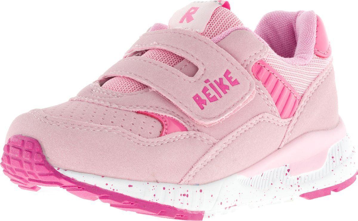 Кроссовки для девочки Reike, цвет: розовый. RST18-035. Размер 31RST18-035 bs pinkСтильные кроссовки S.Oliver придутся по душе вашему ребенку. Кроссовки, выполненные из искусственной замши и текстиля, оформлены прострочкой, перфорацией и на ремешке тиснением в виде логотипа бренда. Ремешок с липучкой надежно фиксирует обувь на ноге. Подкладка и стелька из мягкого текстиля комфортны при ходьбе. Рифление на подошве обеспечивает идеальное сцепление с любыми поверхностями. Эффектные кроссовки необходимая вещь в гардеробе каждого ребенка.