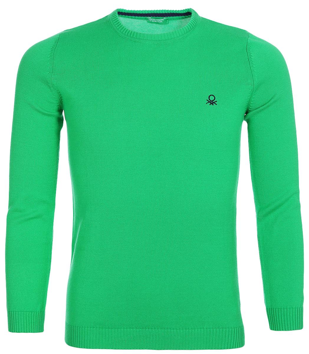 Свитшот для мальчика United Colors of Benetton, цвет: зеленый. 197IQ1205_108. Размер 100 свитшот united colors of benetton united colors of benetton un012ewvxk10
