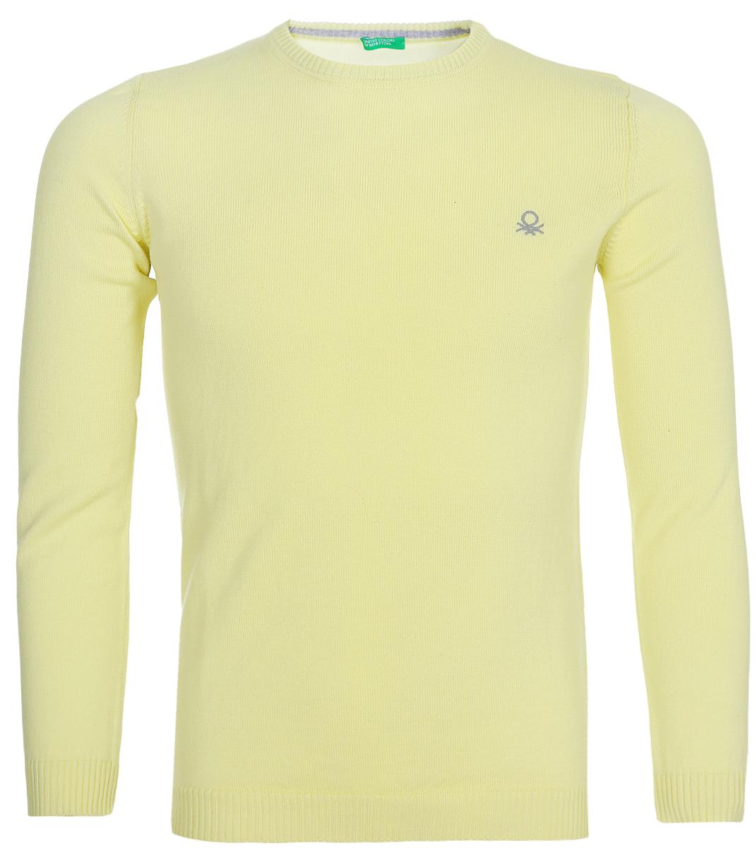 Фото - Свитшот для мальчика United Colors of Benetton, цвет: желтый. 197IQ1205_0H3. Размер 160 плавки united colors of benetton united colors of benetton un012ewacdk6