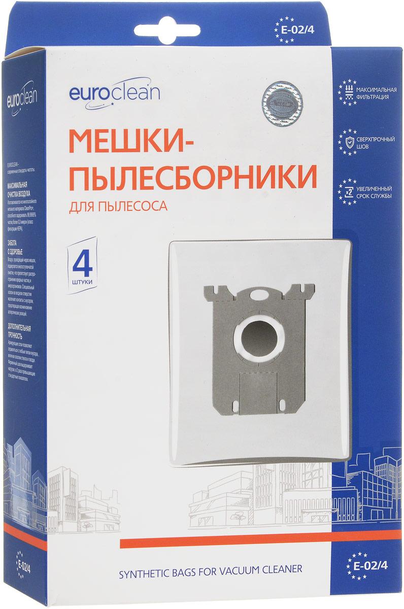 Euro Clean E-02 пылесборник, 4 шт пылесборник для сухой уборки euro clean e 11 4