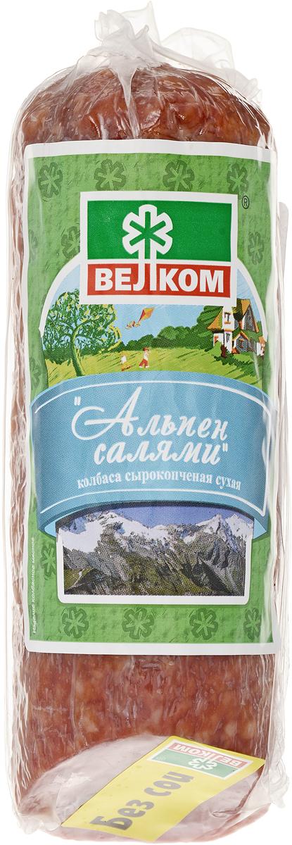 Велком Альпен салями сырокопченая, 230 г