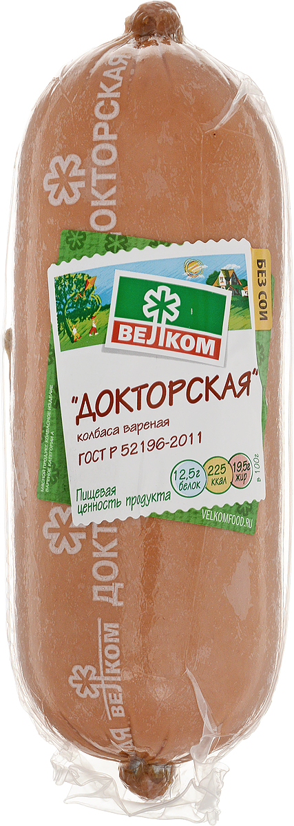 Велком Докторская колбаса в белковой оболочке, 620 г