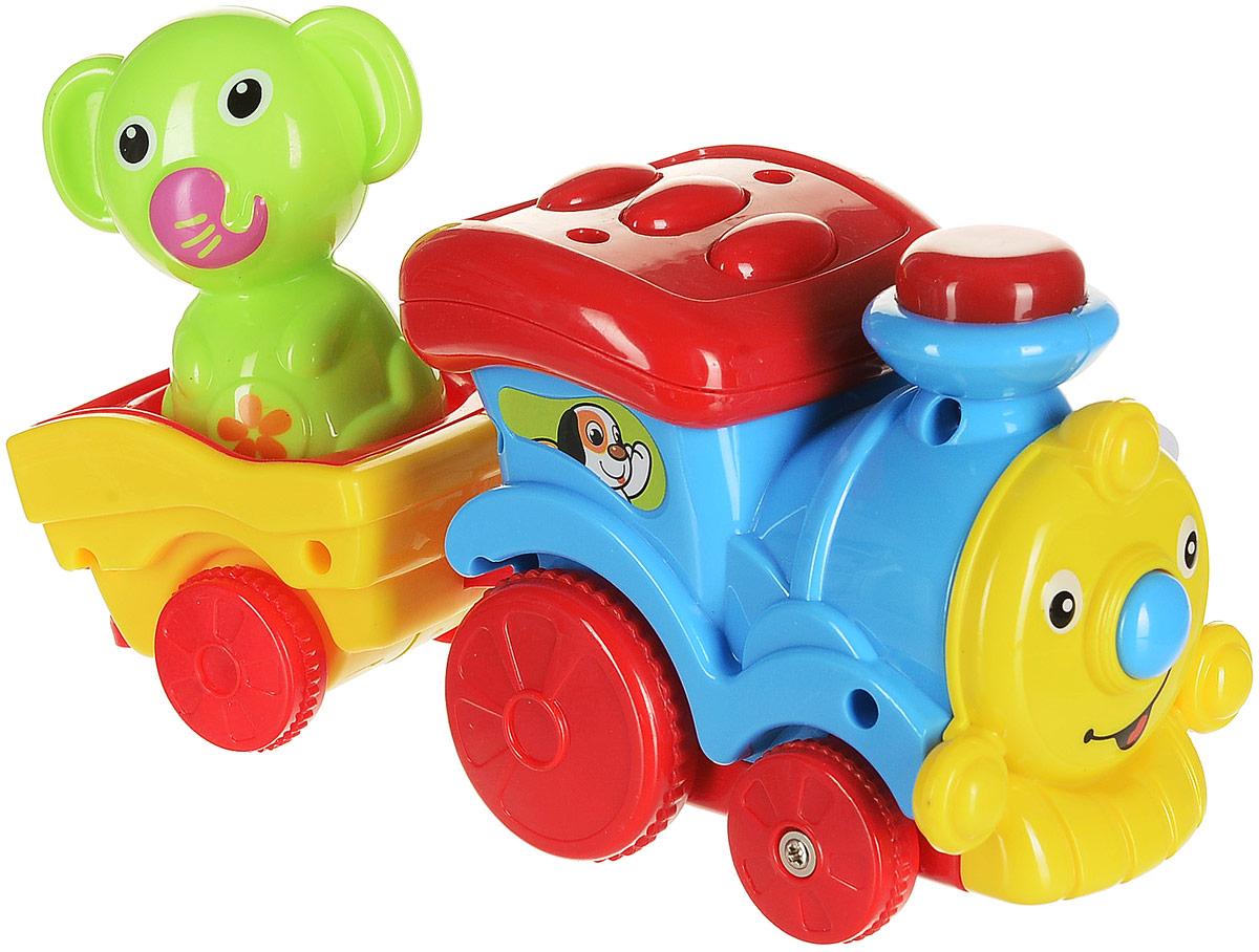 Умка Развивающая игрушка Паровозик музыкальный цвет голубой развивающая игрушка умка пожарная машинка со стихами м дружининой