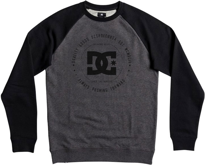 Джемпер мужской DC Shoes, цвет: черный, серый. EDYSF03106-XKKK. Размер XL (52) dc shoes кеды dc shoes evan smith hi navy gold 9