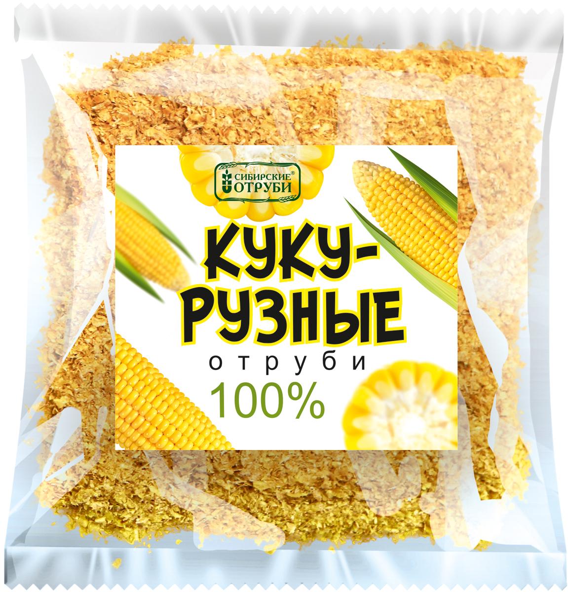 Сибирские отруби Кукурузные натуральные 100%, 180 г сибирские отруби хрустящие сила овощей 100 г