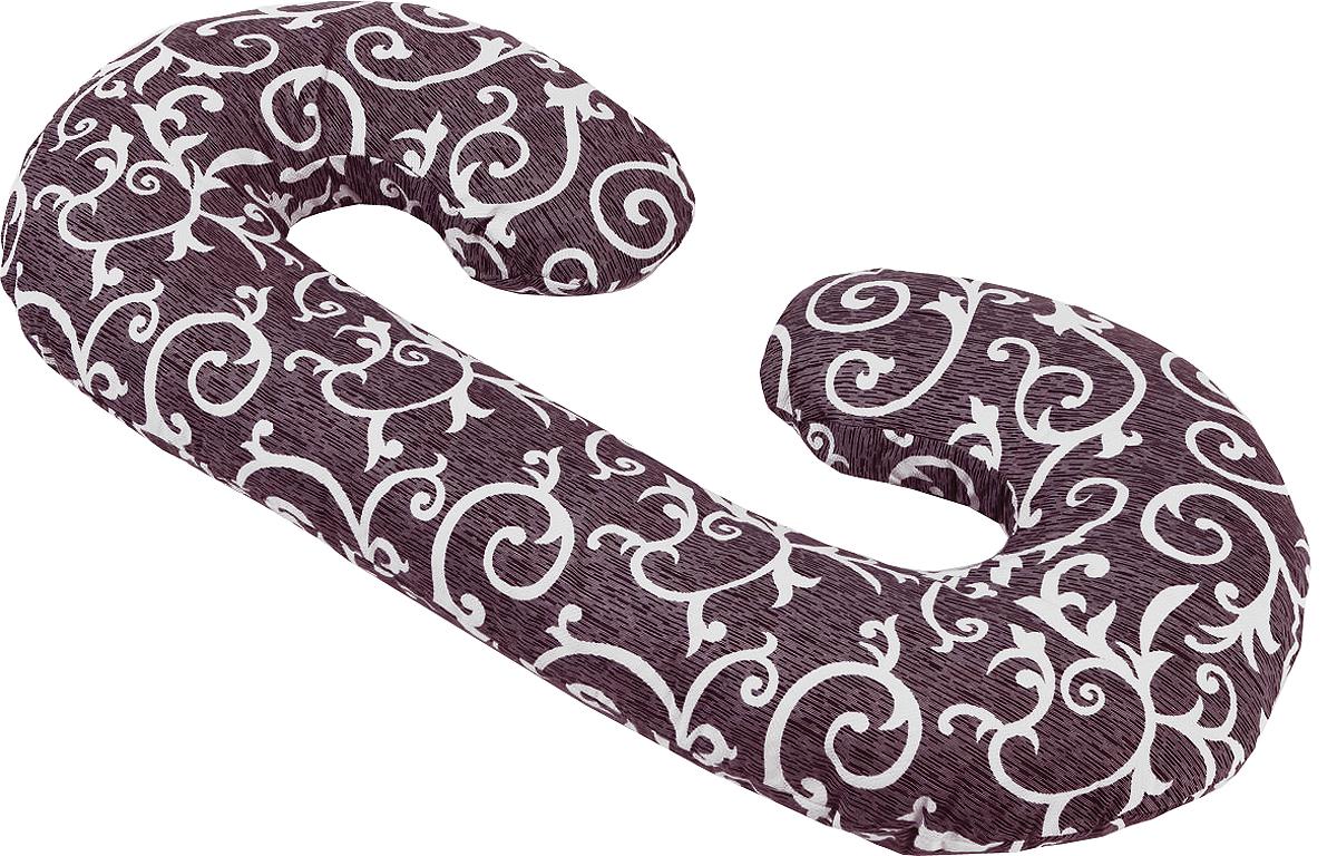 Подушка для беременных в форме С – многофункциональная и эргономичная подушка, которая подстроится под форму тела будущей мамы даже во время анатомических изменений. Длинная сторона подушки поддерживает растущий животик или спинку, а закругления подкладываются под голову и между бедер, для того чтобы снять напряжение с мышц и отечность ног.   Размер подушки 140х75 см (или 300 см по внешнему краю). Подушка идеально подойдет девушкам с ростом до 170 см.  Подушку можно сложить пополам и использовать как удобное кресло, а так же подушку можно обернуть вокруг талии и расположить на ней малыша во время кормления.  Наполнитель подушки – холлофайбер – это мягкий и гибкий классический наполнитель. Этот материал состоит из волокон полиэстера, которые образуют сильную пружинистую структуру материала. Это свойство позволяет быстро восстанавливать свою форму после смятия, а так же принимать различные формы.   В комплекте есть съемная наволочка на молнии.    Список вещей в роддом. Статья OZON Гид