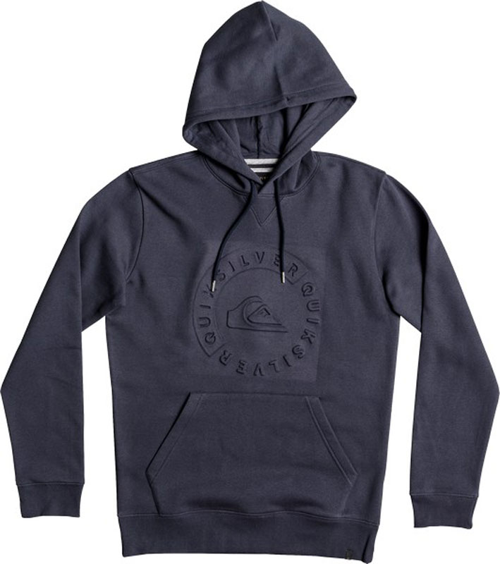 Толстовка мужская Quiksilver, цвет: синий. EQYFT03793-BST0. Размер XXL (56)EQYFT03793-BST0Толстовка от Quiksilver выполнена из хлопкового трикотажа. Модель с длинными рукавами и капюшоном на груди оформлена логотипом бренда, спереди имеется карман кенгуру. Манжеты рукавов и низ изделия обработаны трикотажными резинками.