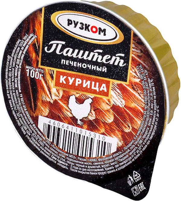 Рузком Паштет печеночный курица ламистер, 100 г setra паштет утиный 100 г