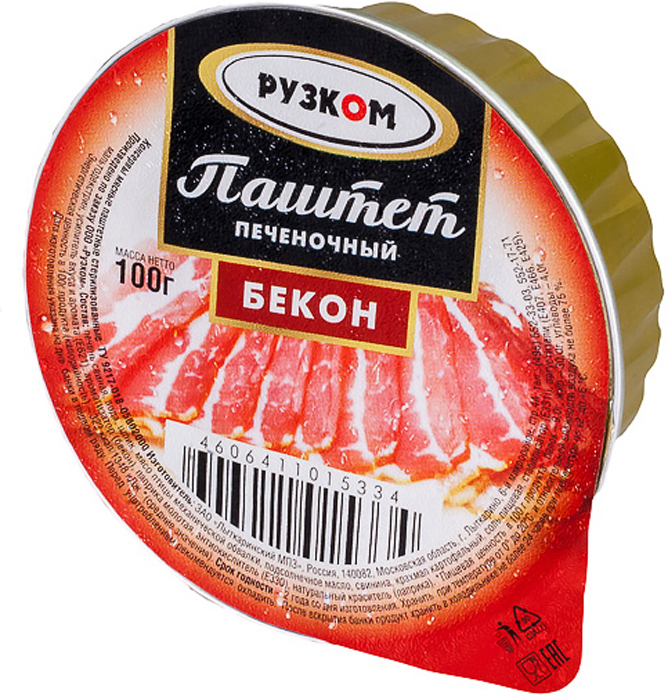 Рузком Паштет печеночный бекон ламистер, 100 г setra паштет утиный 100 г