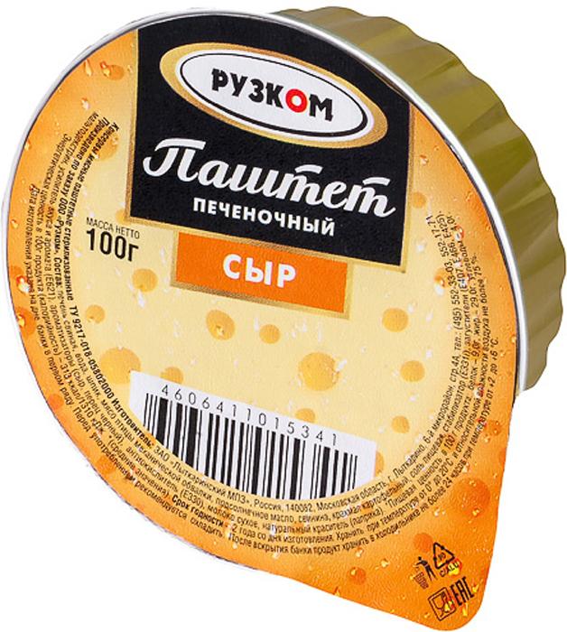 Рузком Паштет печеночный сыр ламистер, 100 г паштет argeta куриный 95г