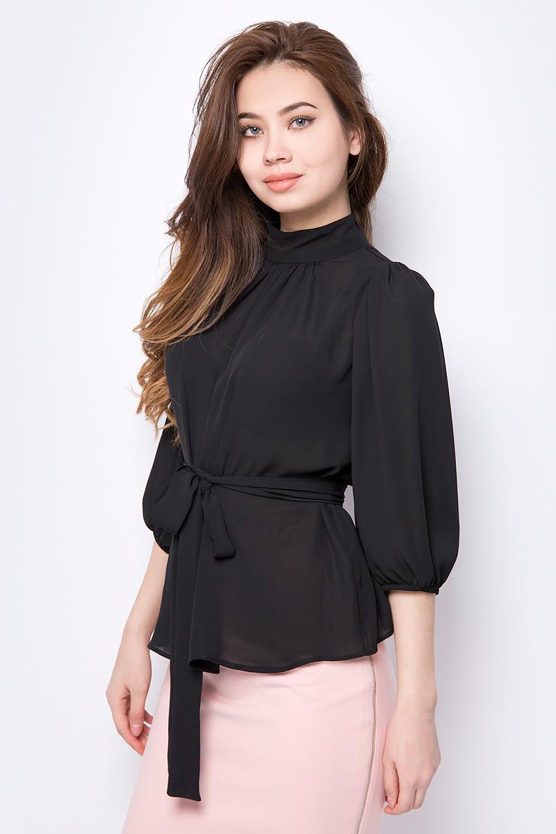 Блузка женская adL, цвет: черный. 11533623000_001. Размер XS (40/42) футболка женская adl цвет черный 17532987001 001 размер xs 40 42
