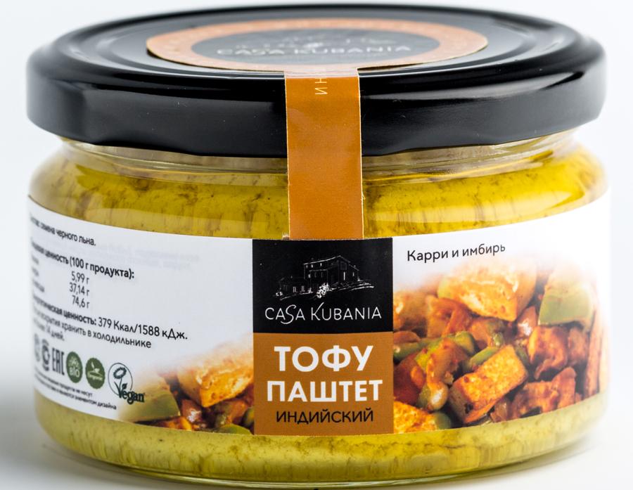 Casa Kubania Индийский Тофу-паштет соевый, 200 г тофу ясай