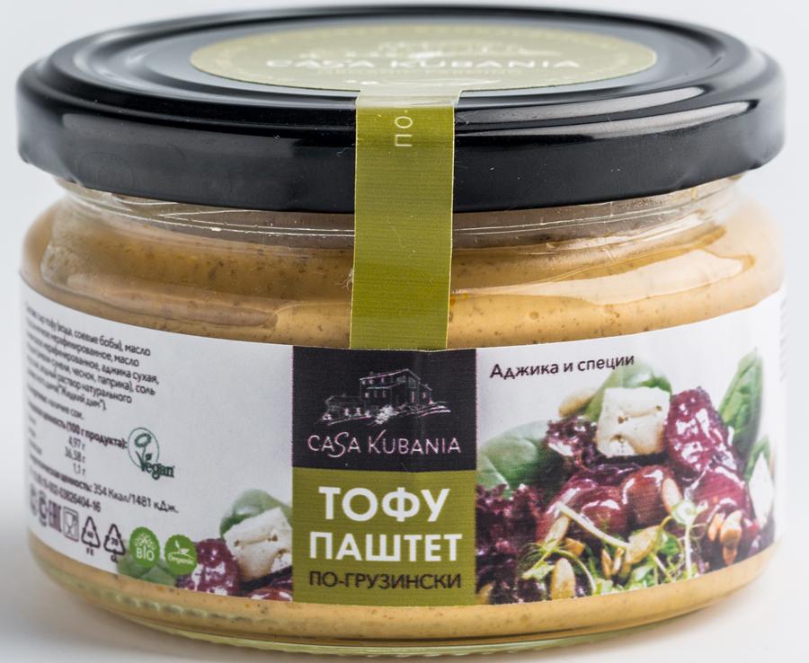 Casa Kubania По-Грузински Тофу-паштет соевый, 200 г тофу ясай