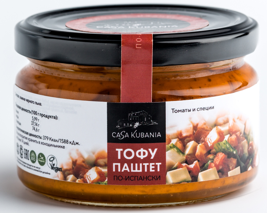 Casa Kubania По-Испански Тофу-паштет соевый, 200 г паштет argeta куриный 95г