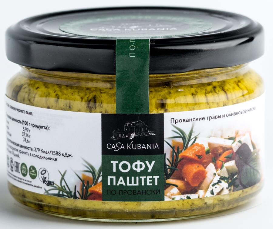 Casa Kubania По-Провански Тофу-паштет соевый, 200 г оливковое масло itlv 100% clasico 500мл
