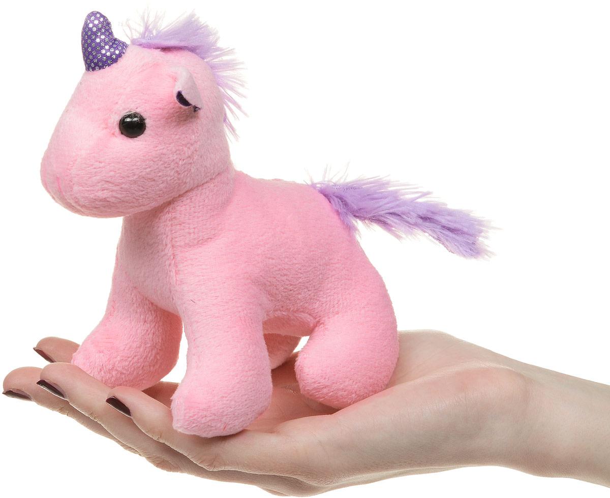 ABtoysМягкая игрушка Единорог цвет розовый 12 см ABtoys