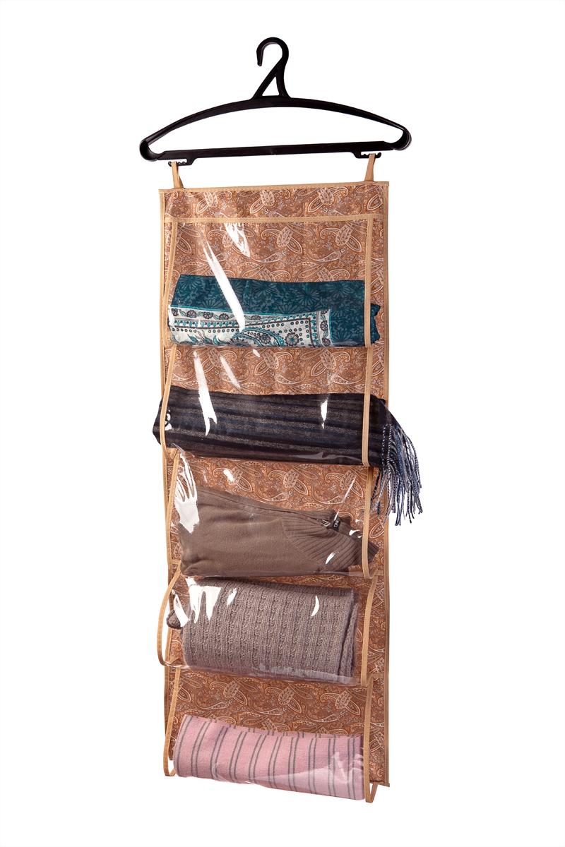 """Удобный органайзер, снабженный пятью прозрачными горизонтальными отделениями для удобного хранения вещей (шарфов, перчаток и т.п.), а также разнообразных мелочей. Красивый и оригинально оформленный кофр можно не прятать, а повесить на виду, также можете разместить его в прихожей, или в шкафу. Станьте дизайнером своего интерьера, сделайте дом красивее и уютнее, все необходимое всегда будет под рукой, и при этом не будет бардака. Воображайте, украшайте и делайте свой """"маленький мир"""" таким, что бы вам и вашим родным, было всегда тепло и радостно в нём."""