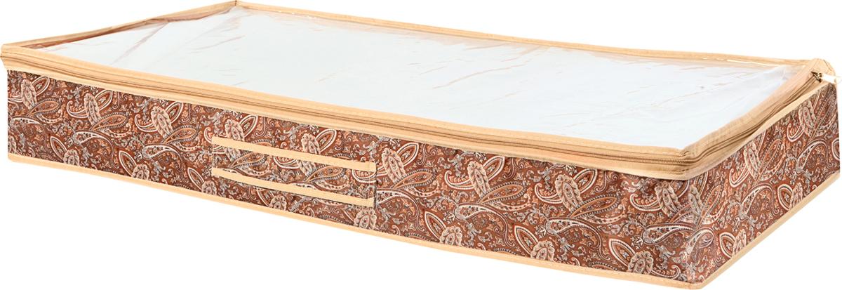 Чехол для одеял Cofret Русский шик, на 6 пар 90 x 45 x 15 см1211Удобный вместительный чехол от для хранения одеял. Кофр закрывается на молнию, поэтому Вы никогда ничего не потеряете. Крышка выполненна из прозрачного материала, чтобы удобнее было найти нужное вам одеяло. Высококачественные материалы, из которых выполнен кофр, гарантируют защиту от множества вредных факторов, таких как пыль или различные виды загрязнений. Красиво, оригинально и очень удобно!