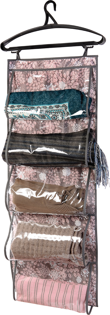 Кофр для одежды Cofret Серебро, 5 карманов 105 x 40 см