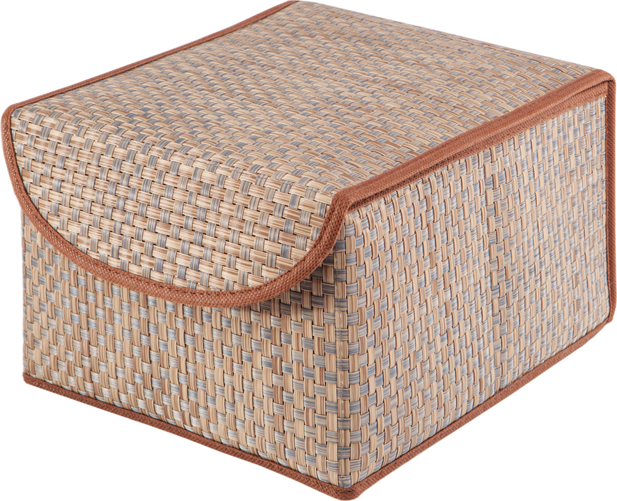 Коробка для хранения вещей Casy Home, с крышкой, цвет: бежевый, 21 x 26 x 15 смBO-012Универсальная коробка с крышкой для хранения одежды, аксессуаров, предметов домашнего обихода. Коробка обладает прочным каркасом из полипропилена, но при этом легко складывается и раскладывается. Внешняя сторона из текстилена, а подкладка - спанбонд. Эти материалы не впитывают влагу, хорошо пропускают воздух и при этом защищают от пыли.
