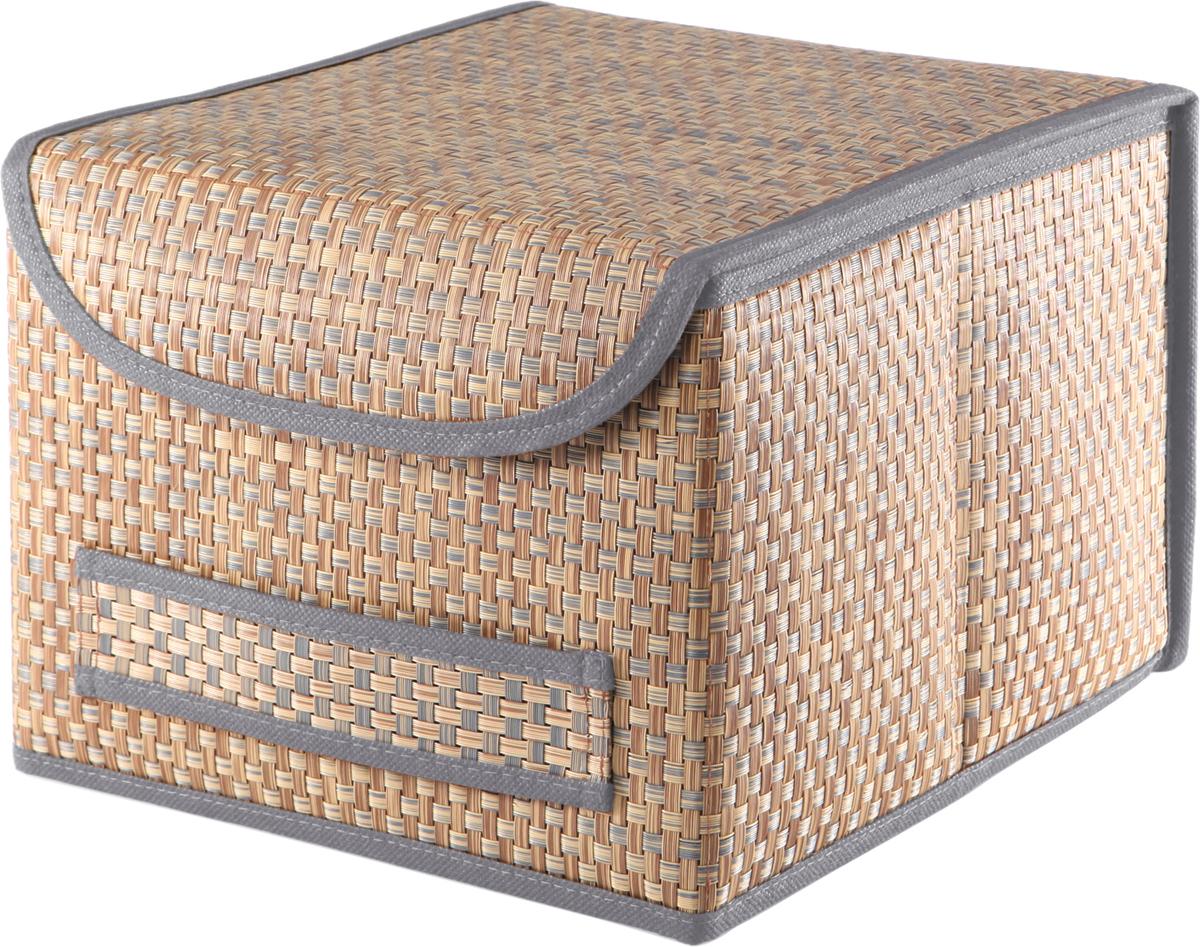 Коробка для хранения вещей Casy Home, с крышкой, цвет: синий, 25 x 27 x 20 смBO-031Универсальная коробка с крышкой для хранения одежды, аксессуаров, предметов домашнего обихода. Коробка обладает прочным каркасом из полипропилена, но при этом легко складывается и раскладывается. Внешняя сторона из текстилена, а подкладка - спанбонд. Эти материалы не впитывают влагу, хорошо пропускают воздух и при этом защищают от пыли.