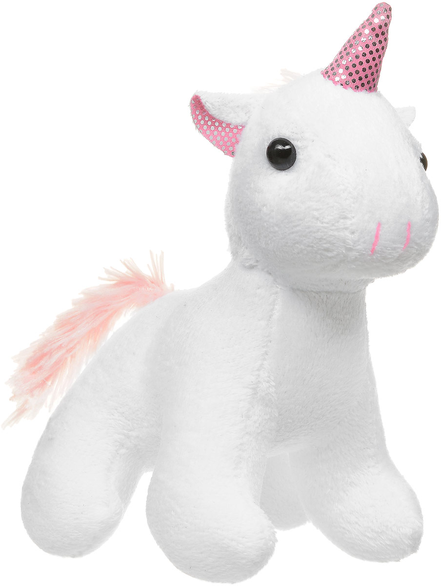 ABtoys Мягкая игрушка Единорог цвет белый 12 см классические abtoys мягкая игрушка abtoys жираф 14 см